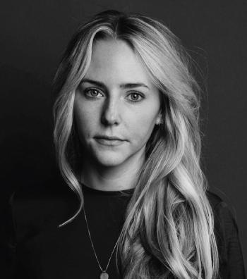 black and white professional headshot of Maija Costello