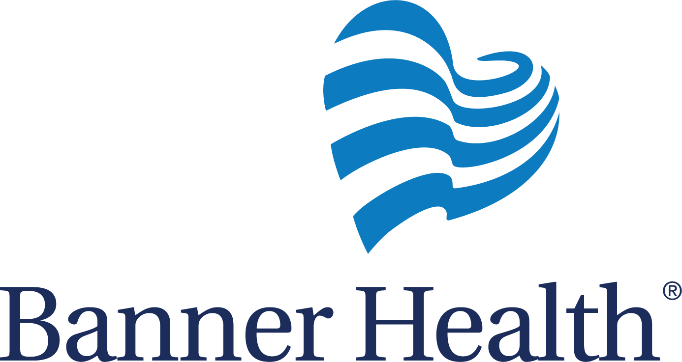 banner health logo with blue heart